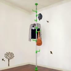 【LIFECODE】春樹頂天立地多用途衣帽架/包包架 (果綠色)