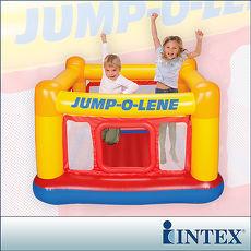 【INTEX】充氣式跳跳床-擂台 JUMP-O-LENE-寬174cm(48260)