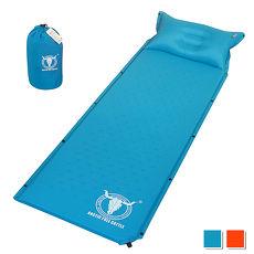 【APC】可拼接自動充氣睡墊-帶自充式頭枕-厚2.5cm-藍色/桔紅色 (2色可選)