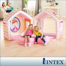 【INTEX】公主遊戲小屋/充氣小屋-附充氣椅組(48635)