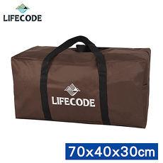 【LIFECODE】野營裝備袋(L號) -(咖啡色) 70x40x30cm