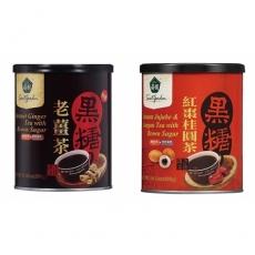 【薌園】黑糖老薑茶(500g)x2罐/黑糖紅棗桂圓茶(400g)x2罐