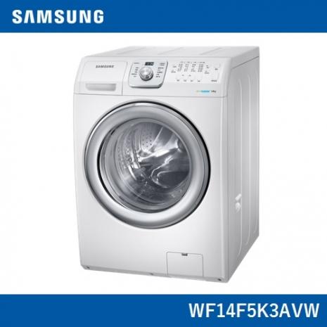 【Samsung三星】原裝進口14KG洗脫滾筒洗衣機WF14F5K3AVW/TW