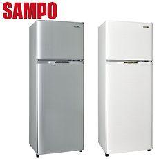 SAMPO 聲寶 250公升省電節能1級雙門冰箱 SR-L25G (W2)(S2)典雅白(W2)