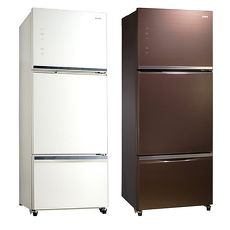 【SAMPO聲寶】455L三門變頻玻璃冰箱SR-A46GDV(R7)/SR-A46GDV(W5)