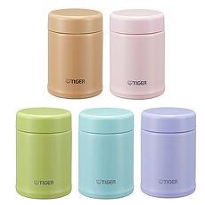 【TIGER虎牌】250cc輕量保溫保冷FUN彩食物罐/杯_型(MCA-B025)粉綠(GP)