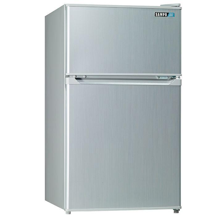 【SAMPO 聲寶】100公升雙門小冰箱SR-A10G (CP高於R1303W)【冰箱特賣】