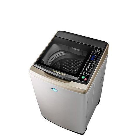 台灣三洋SANLUX 15公斤全玻璃觸控洗衣機不鏽鋼 SW-15DAGS
