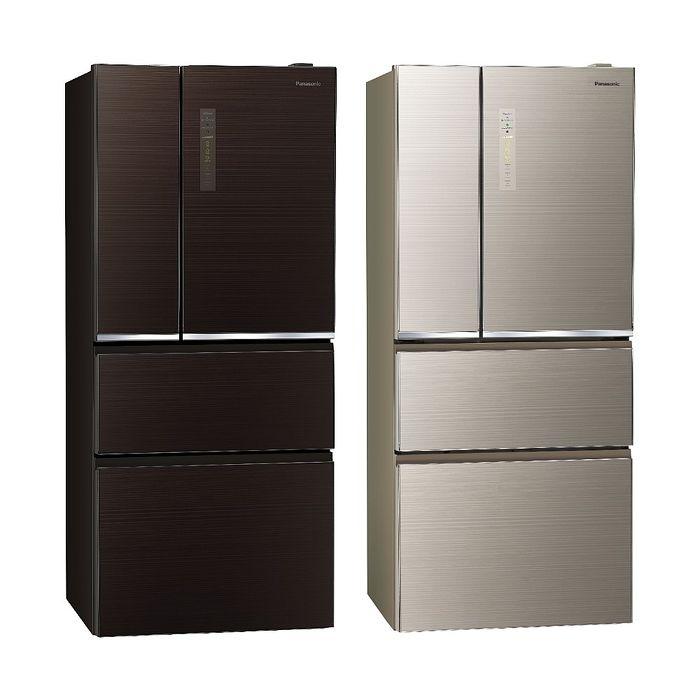 Panasonic國際牌610公升四門變頻玻璃冰箱NR-D611XGS-T/NR-D611XGS-N翡翠棕