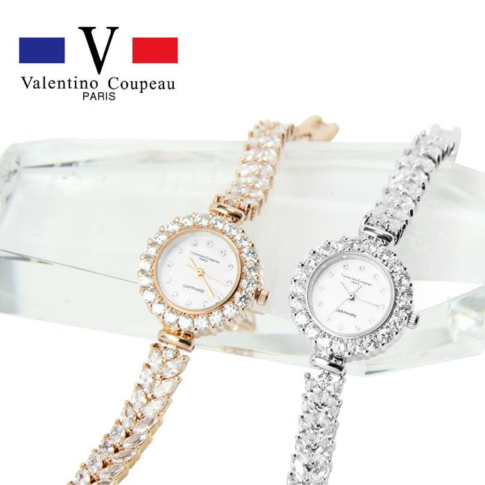 [買一送一]【Valentino范倫鐵諾】女錶-風華心鑽手鍊造型錶 (玫瑰金/銀色) [特賣]銀色