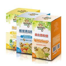 (即期品)monkiland魚油軟糖/維健素Q軟糖/益生菌軟糖優格口味(任選3 瓶)