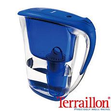 【Terraillon】法國巴芙蘿堤2.1L濾水壺-藍色(附濾芯X1)