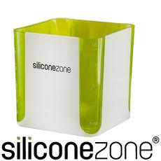 【Siliconezone】施理康520ml耐熱立方造型計量杯&計量匙-綠色