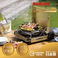 【日本Iwatani】岩谷新防風手提收納卡式爐-日本製(CB-MVS-2)