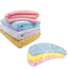 【神布開纖紗系列】輕柔開纖紗浴帽+浴巾