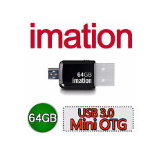 Imation USB 3.0 Mini OTG 64G【2入特賣】