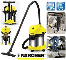 【Karcher 德國凱馳】 乾濕兩用吸塵器 WD3300 WD3.300