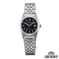 ORIENT東方錶 典雅簡約藍寶石石英女錶 黑x26mm FSZ46006B0