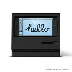 Elago iPhone M4贾伯斯Macintosh造型充电支架-限量纪念款