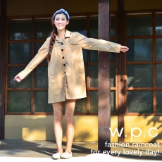 【w.p.c.】baby style。時尚雨衣/風衣(R1002)_卡其