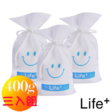【Life+】水玻璃微笑可再生環保除濕包/袋_400g(三入組)