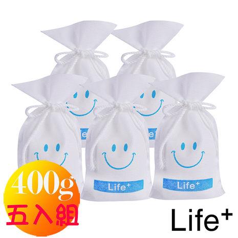 【Life+】水玻璃微笑可再生環保除濕包/袋_400g(超值五入組)