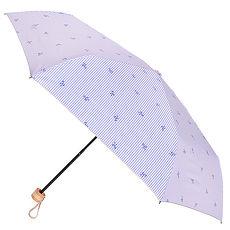【2mm】銀膠抗UV 蝴蝶結條紋輕量手開傘(藍色)