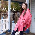 【w.p.c】垂墜斗篷款。時尚雨衣/風衣(R1004)_桃紅