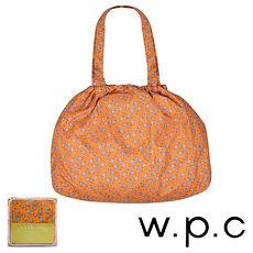 【w.p.c】時尚包包雨衣/束口防雨袋 (橘底小花)