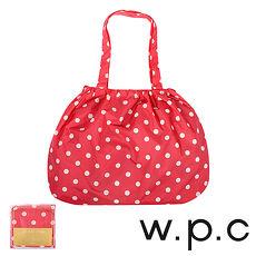 【w.p.c】時尚包包雨衣/束口防雨袋( 紅底白點)