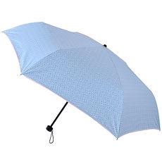 【2mm】色膠抗UV 彩點花邊輕量手開傘(淺藍)