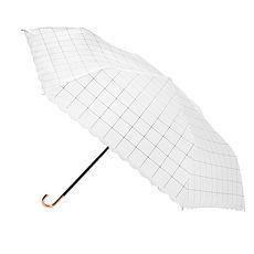 【2mm】色膠抗UV 格紋滾邊輕量彎把手開傘(格子米)