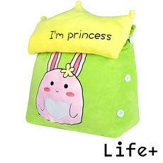 【Life Plus】萌趣造型舒壓絨毛萬用靠枕/抱枕/腰靠枕(兔子)