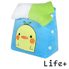 【Life Plus】萌趣造型舒壓絨毛萬用靠枕/抱枕/腰靠枕(小雞)(特賣)