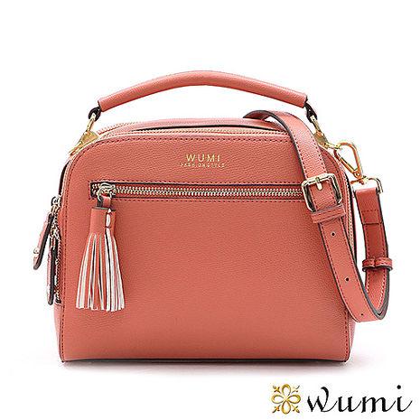WuMi 無米 桃樂絲雙隔層ㄇ型包 共三色蜜桃粉