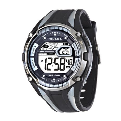JAGA 捷卡 M980-AC(級戰將多功能電子錶(黑灰)