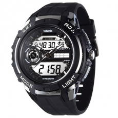 JAGA 捷卡 Blink AD1030-A 捍衛戰士雙顯多功能電子錶-黑/50mm
