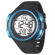 JAGA 捷卡 blink M1034-AE運動休閒型多功能電子錶-黑藍/52mm