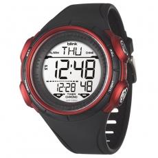 JAGA 捷卡 blink M1034-AG運動休閒型多功能電子錶-黑紅/52mm