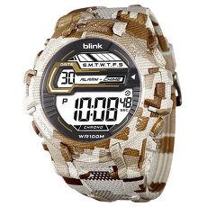 JAGA 捷卡 blink  M1087-DH 活力繽紛多色潮流迷彩電子錶-白咖
