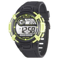 JAGA 捷卡 M862-AFF 熱活動能運動家多功能電子錶-黑綠