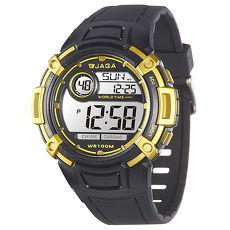 JAGA  捷卡 M862-AK 熱活動能運動家多功能電子錶-黑黃