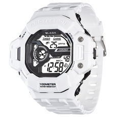 JAGA 捷卡 M1120-D 超越時空多功能電子錶-白