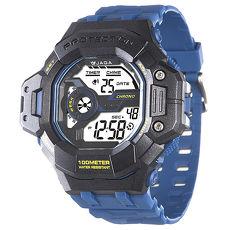 JAGA 捷卡 M1120-EA 超越時空多功能電子錶-藍黑