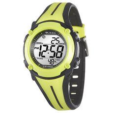 JAGA 捷卡 M1112-AF 全新俏麗時髦多功能電子錶-黑綠