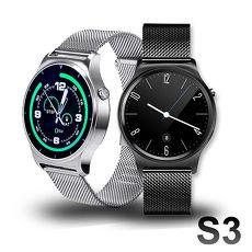 【SAMGO】S3 + 經典米蘭尼斯金屬鍊帶藍牙通話智慧手錶 (公司貨)