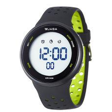JAGA 捷卡 M1185-AF1 科技時尚運動型電子錶-黑綠白