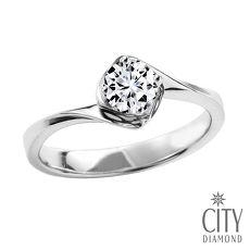 City Diamond『玫瑰心情』50分鑽石戒指/求婚戒指/鑽戒(預購)#11
