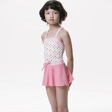 【SARBIS】MIT泡湯SPA女童連身裙泳裝附泳帽B88207