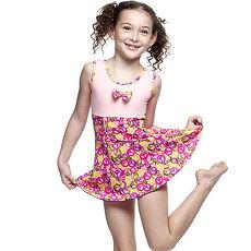 【SARBIS】MIT女童連身裙泳裝附泳帽B88407